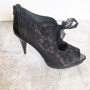 Beautiful Black Lace Stilettos